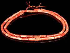 OLD! Pretty Color Pink Salmon Skin Red Coral Ornament Smooth Surface Necklace