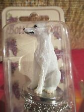 Whippet White Dog Wine Stopper
