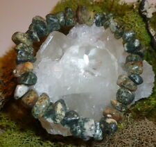 BEAUTIFUL RARE STONEHENGE BLUESTONE NATURAL CRYSTAL BRACELET WEST WALES