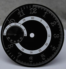 DIAL FOR ETA 6497 / 6497-1 MOVEMENT DM: 38mm AVIATOR BLACK SWISS MADE - NEW!