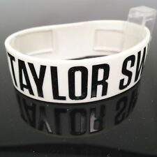 NEW TAYLOR SWIFT RED TOUR RUBBER BRACELET WHITE COLOR w BLACK & WHITE TEXT