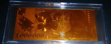 24 Kt *Gold Romania 1.000.000 Lei* Banknote Bill Comes In Acrylic Slab Holder