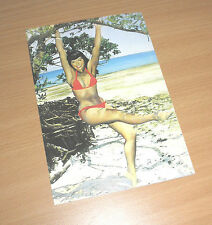 BETTY PAGE sexy Queen of Burlesque Erotik Fotocolor Postcard PIN UP Star 50er