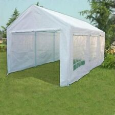 Peaktop 20'x10' Heavy Duty Portable Carport Canopy Party Tent Garage White