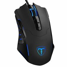 PROGRAMMABLE Laser Gaming Mouse 7200 DPI Professional BLUE Multi-Color Wired