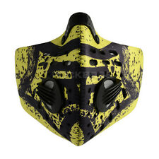 2014 Rockbros Cycling Anti-dust Half Face Mask with Filter Neoprene Yellow New