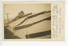 Sand Boards - Ilwaco Railway & Navigation Railroad RARE Oregon Train RPPC Photo