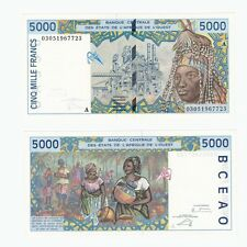 WEST AFRICAN STATES - Ivory Coast 5000 Francs - P113Am - UNC.