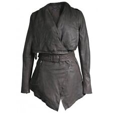 Muubaa Hermia Leather Jacket in Filemont Brown. RRP £499. M0220. UK 10.