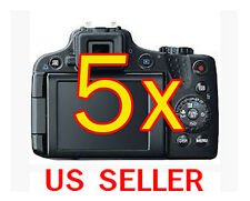 5x Canon PowerShot SX50 HS Clear LCD Screen Protector Guard Shield Film