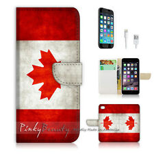 iPhone 6 / 6S (4.7') Flip Wallet Case Cover! P0009 Canada Flag