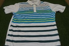 NEW Puma Golf Men's MEDIUM Road Map Performance Fit Polo White/Lime *Sample*
