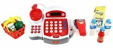 Toy Kid Supermarket Cash Register Scanner Play Set Item Shopping Cart Money Coin