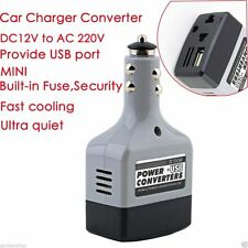 Car Power Converter Inverter 12V DC to 220V AC USB Charger Cigarette Lighter Uk