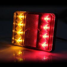 8 LED DC12V Waterproof Taillights Rear Tail Light for Trailer Truck Boat x 2