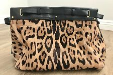 JEROME DREYFUSS Carlos Haircalf Leopard Satchel Tote $2450 SOLD OUT