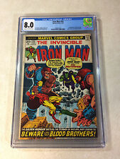 IRON MAN #55 CGC 8.0 SUPER KEY ISSUE, STARLIN, 1ST THANOS, DRAX, 1973, KRONOS