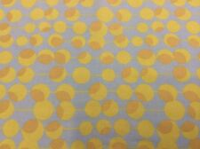 "AMY BUTLER-MIDWEST MODERN 2 ""MARTINI"" LIME GREEN W/ BROWN DOTS ON BLUE FABRIC"