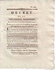 DECRET DE LA CONVENTION NATIONALE DU 24 JUILLET 1793 - PORTANT QUE LE NOMBRE DES