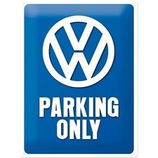 VW Parking Only Volkswagen Car Old Camper Classic Large 3D Metal Embossed Sign