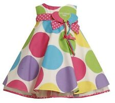 Bonnie Jean Girls Boutique Polka Dot Balloon Birthday Party Dress Size 6 New