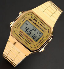 Casio A168WG-9A Men's Gold Stainless Steel Digital Alarm Stopwatch Watch