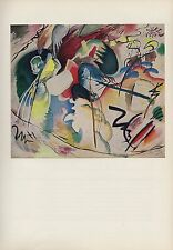 "1958 Vintage KANDINSKY ""PAINTING WITH WHITE FORMS"" COLOR Art Print Lithograph"