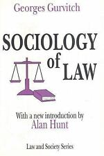 Sociology of Law (Law and Society Series)-ExLibrary