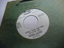 George Jackson I Don't Have The Time/Don't Use Me 45 RPM Mercury Records VG+