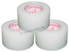 """3M TRANSPORE Clear Surgical First-Aid Tape 1"""" x 10yd (3 ROLLS) #1527-1"""