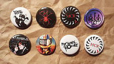 """8 1"""" My Chemical Romance pinback badges buttons"""