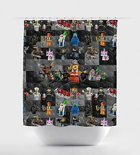 "New Custom Lego Movie Inspired Shower Curtain 60"" x 72"" Standard Size Children"