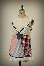 NWT Desigual Baby Doll Mixed Material Cami Boho Patchwork Embroidery Extra Large