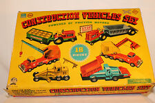 1950's Cragstan Tin Construction Vehicle Set with Box