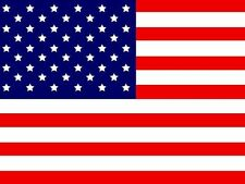 8Ft  ATV Safety Flag America 12x18 on a  5/16 2Pc Pole & Mounting Bolt Included