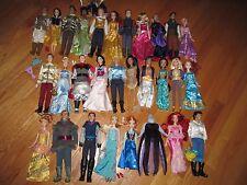 29 Disney Parks Prince Princess Villain Barbie Doll Clothes Shoes Accessory Lot
