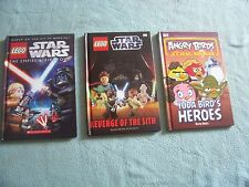 Lego Star Wars Book x 2 & Star Wars Angry Birds book Good condition