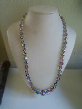 "Retro Vintage Glass Bead 20"" Necklace Lovely Fastener"