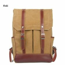 Cotton Canvas Backpack Handbag Satchels (khaki)
