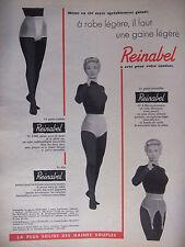 PUBLICITÉ 1957 REINABEL LE PORTE-JARRETELLES GAINE-CULOTTE SLIP - ADVERTISING