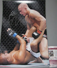 * RARE BOTH * GSP ST PIERRE & BJ PENN Hand Signed 11'x14' Photo UFC + JSA COA