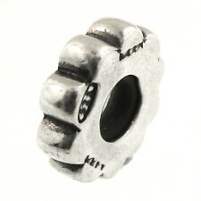 Beaded Rondel Spacer Charm Sterling Silver European Bead Made in Italy 925 Brand