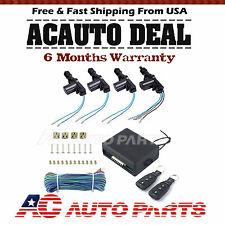 4 Door Power Central Lock Kit with 2 Keyless Entry Car Remote Control Conversion