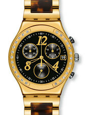 "SWATCH IRONY CHRONO ""DREAMNIGHT 14 GOLDEN"" (YCG405GC) NEUWARE"