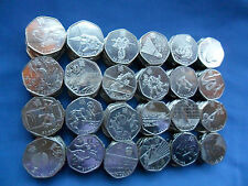 COLLECTION OF 24 LONDON OLYMPICS 2011 ELIZABETH II 50p COINS (5 to get for set)