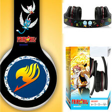 Hot Anime Fairy Tail Stereo Bass Headband Headphone MP3 Phone PC Microphone Gift