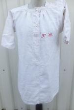 vintage Kleidung Nachtwäsche Omas Nachthemd Leinen bestickt