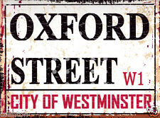OXFORD STREET LONDON METAL STREET SIGN VINTAGE STYLE 8x10in20x25cm pub bar shop