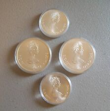 Set of Four (4) 1976 Canadian .925 Sterling Silver Olympic Coins ~ Uncirculated