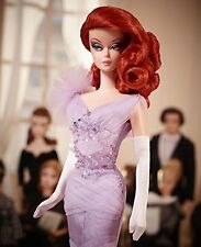 BARBIE COLLECTOR LAVENDER LUXE SILKSTONE GOLD LABEL *CGT28*  RED HEAD DOLL MIB